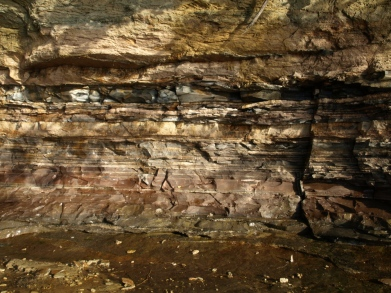 Rock Layers at Pictured Rocks National Lakeshore