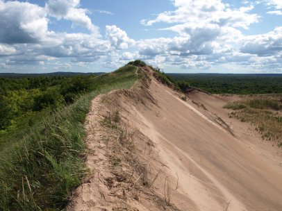 On top of Grand Sable Dunes, Pictured Rocks National Lakeshore near Grand Marais, MI