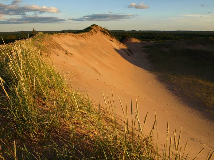 Sunset on top of Grand Sable Dunes, Pictured Rocks National Lakeshore near Grand Marais, MI