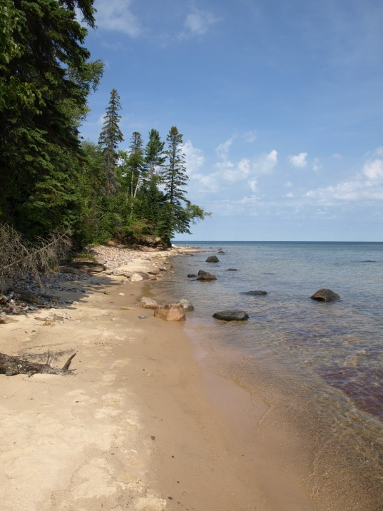 Making our way to Au Sable Lighthouse, Pictured Rocks National Lakeshore
