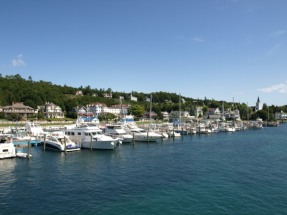 Ferrying to Mackinac Island