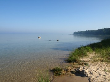 Grand Traverse Bay on the Morning of a Hot One