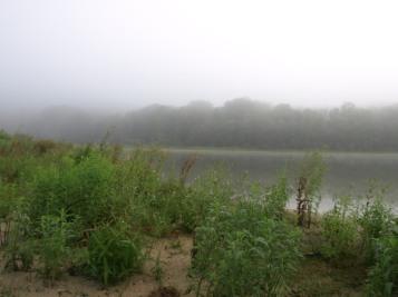 Fog on Lake Louise