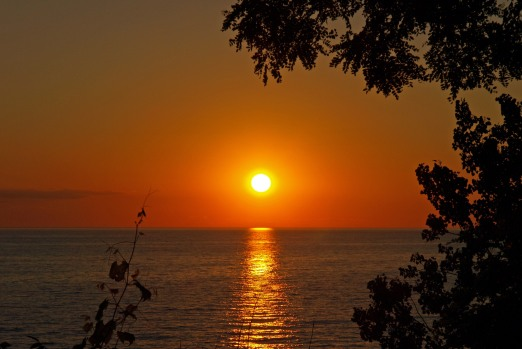 Summer Sunset over Lake Michigan