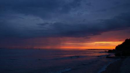 Sunset on Mackinac Island