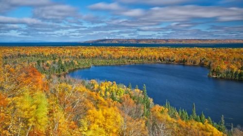 mission hill overlook, chippewa county, michigan by twurdemann