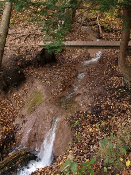 Waterfall, Manistee River Trail, Lower Peninsula, October 2016