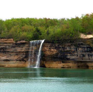 Spray Falls, Pictured Rocks National Lakeshore