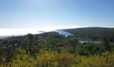 Looking Down on Copper Harbor from Brockway Mountain Drive