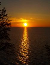 Sunset on Lake Superior, Porcupine Mountains, Upper Peninsula