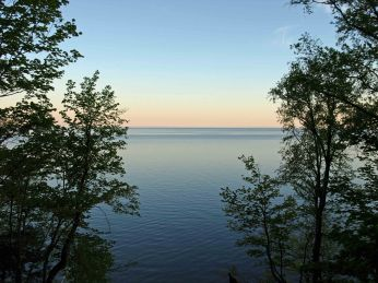 Lake Superior at Sunrise, Presque Isle State Campground, Porcupine Mountains, Upper Peninsula