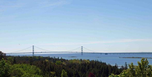 Mackinac Bridge from the Upper Peninsula